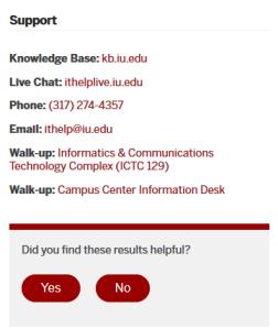 UITS Contact Info