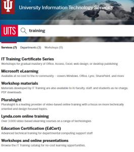 UITS Training