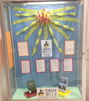 Sunshine Week Display 2016